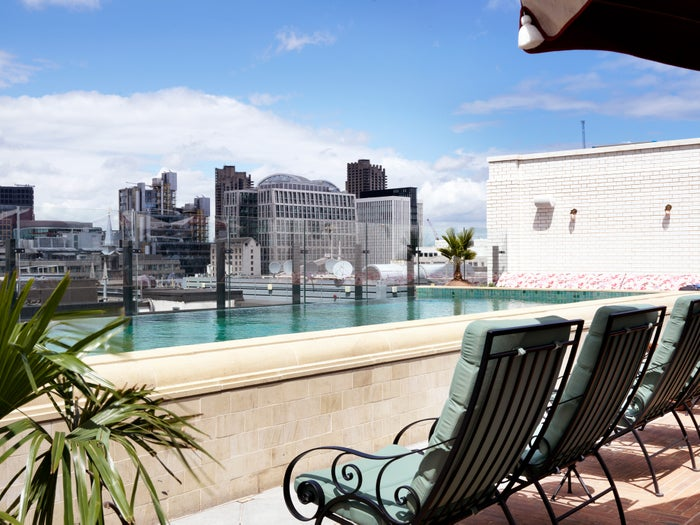 Spectacularly positioned, above ground (and above London) rooftop pool