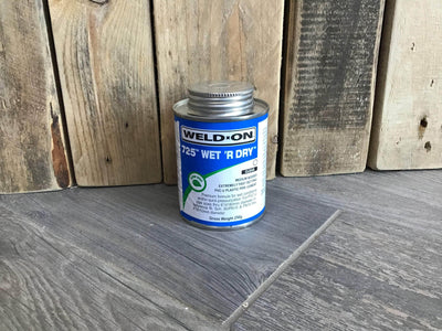 Wet/dry fast cure adhesive -240ml (sizes up to 3 inch)
