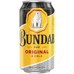 Bundaberg Rum UP & Cola Cans 6 PACK