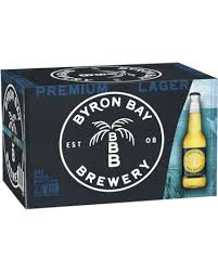 Byron Bay Premium Lager 355ml Stubbies CARTON