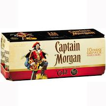 Captain Morgan Spiced & Cola Cans 10 PACK