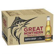 Great Northern Crisp Lager 330ml Stubbies CARTON