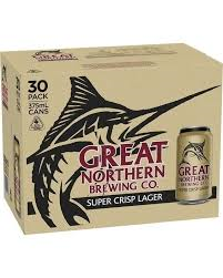 Great Northern Crisp Lager 375ml Cans 30 BLOCK