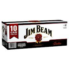 Jim Beam & Cola Cans 10 PACK