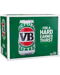 Victoria Bitter Cans 30 BLOCK