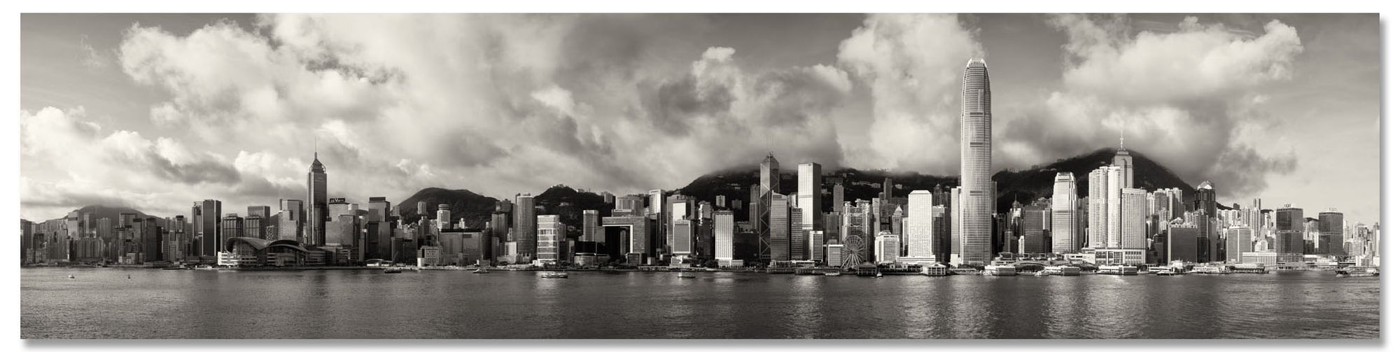 Hong Kong Skyline Panorama at Dawn