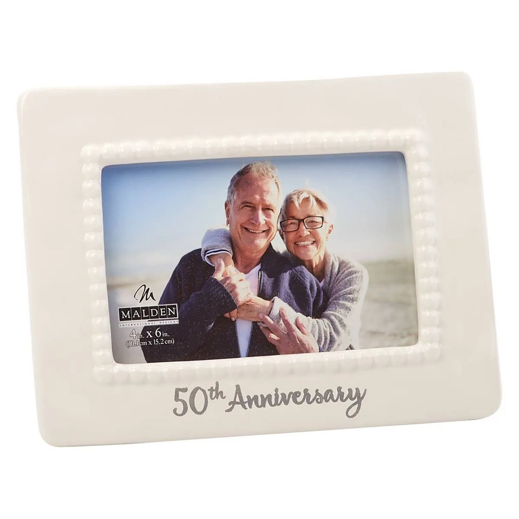 Malden 50th Anniversary Ceramic Bead Picture Frame