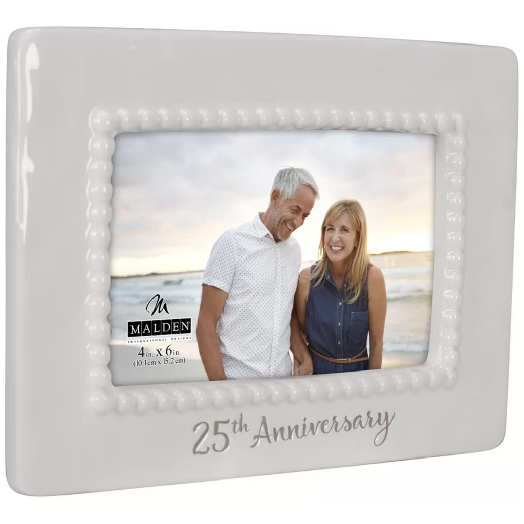 Malden 25th Anniversary Ceramic Bead Picture Frame