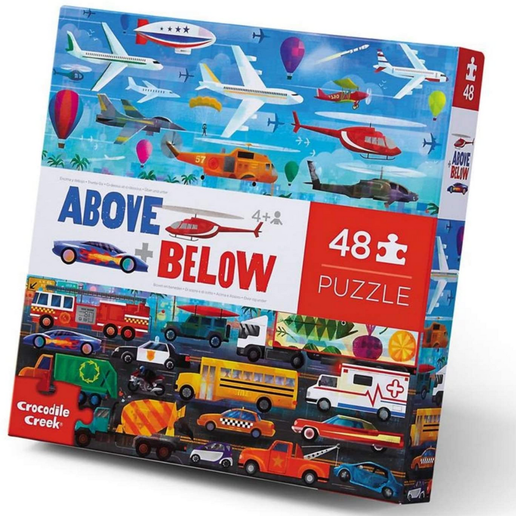 Crocodile Creek - Above + Below 48 Piece Things That Go Puzzle