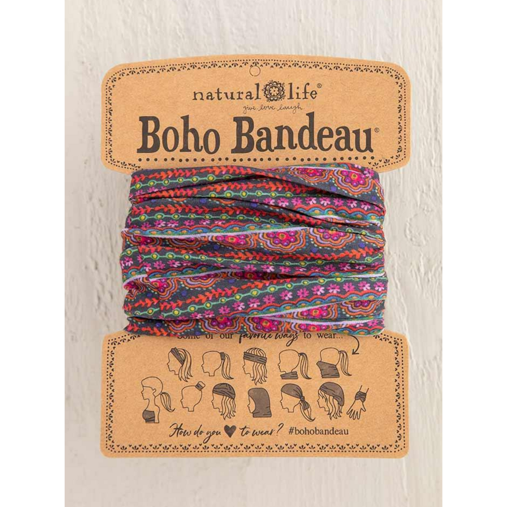 Natural Life Boho Bandeau- Multi Scalloped Rows