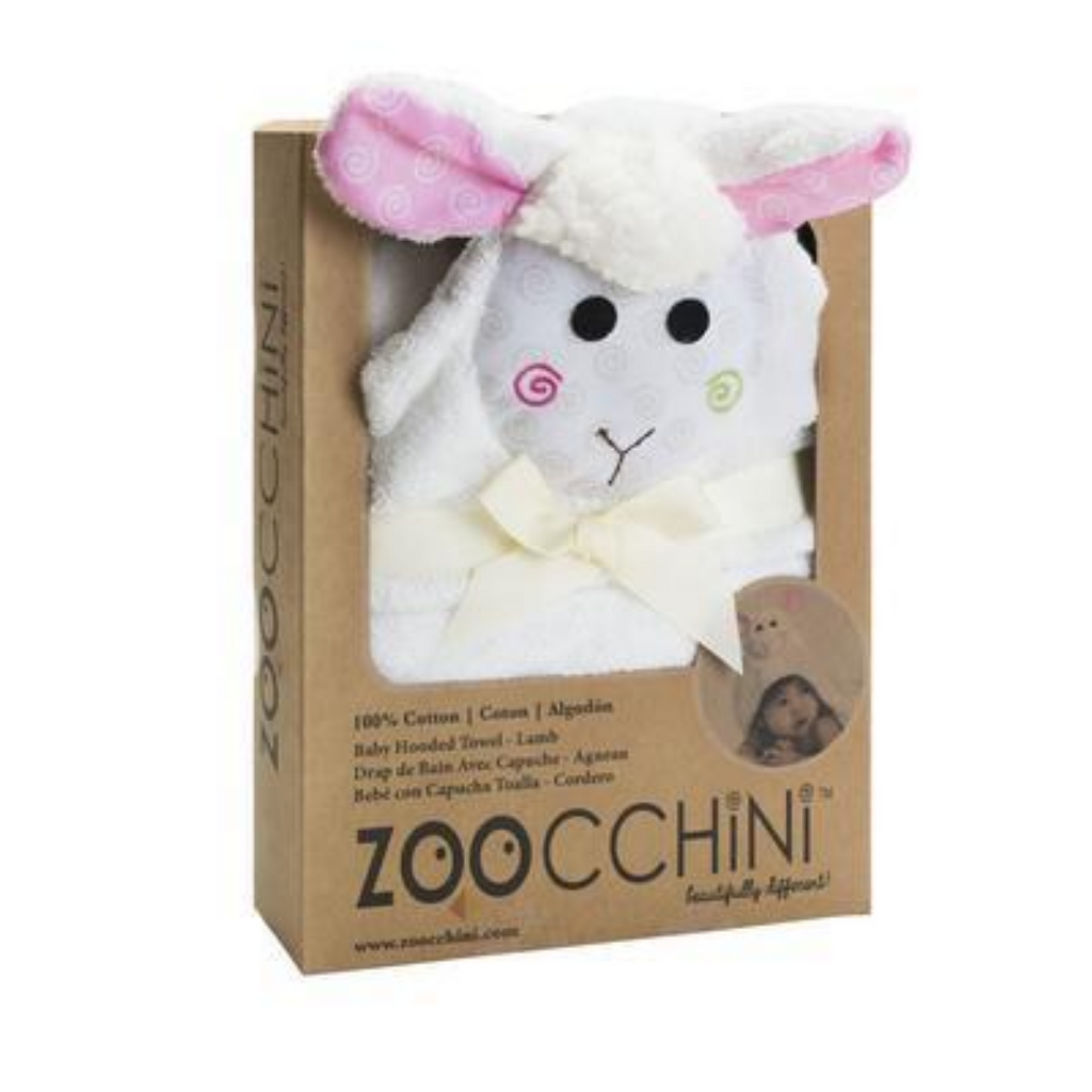 Hooded Baby Towel- Lamb