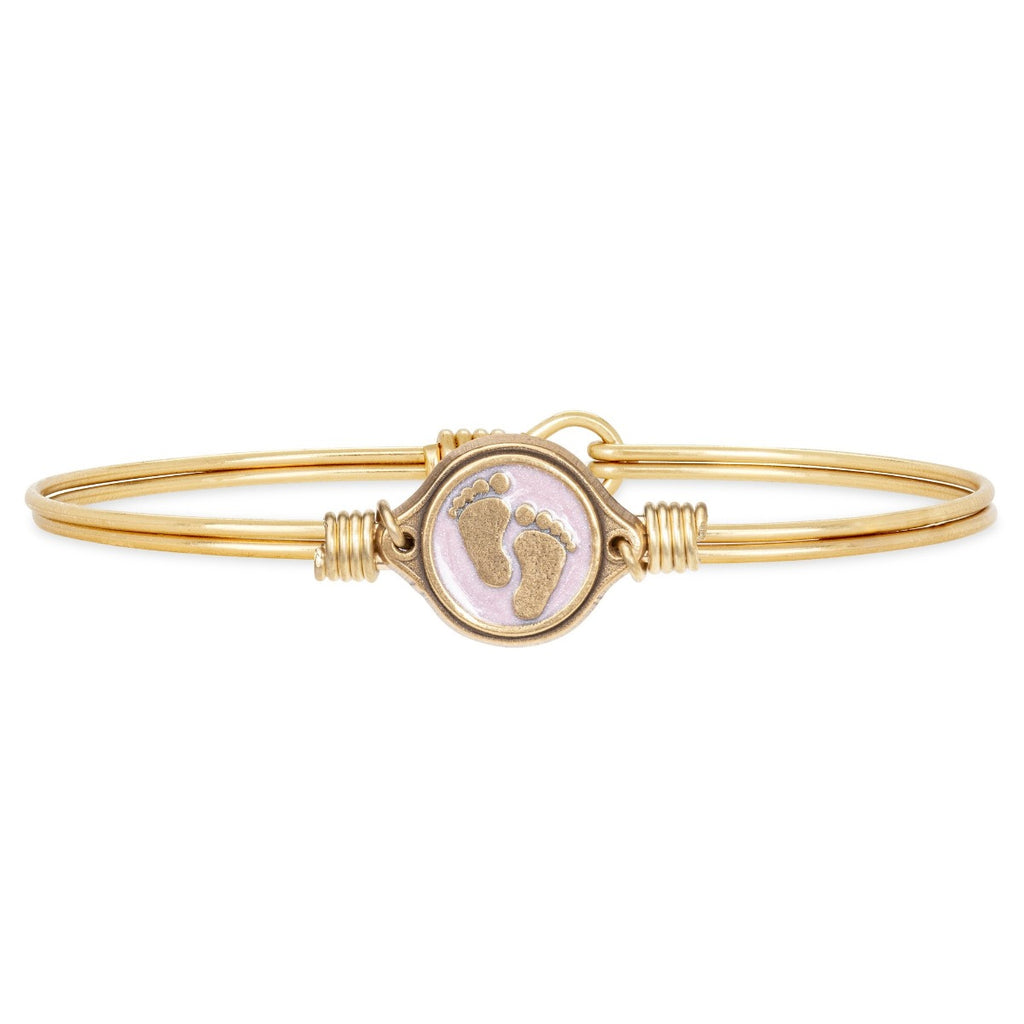 Luca+Danni- Little Footsteps Pink Bangle Bracelet