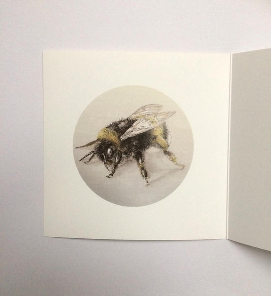 Bumblebee square greeting card