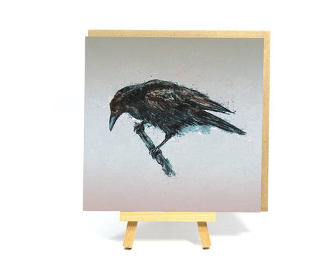 Crow square greeting card
