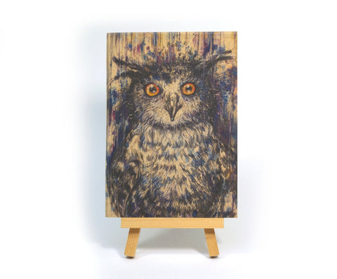 Purple Owl A6 Pocket Notebook