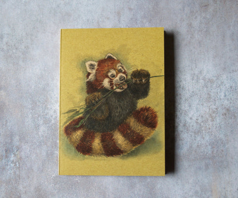 Red Panda A6 Pocket Notebook