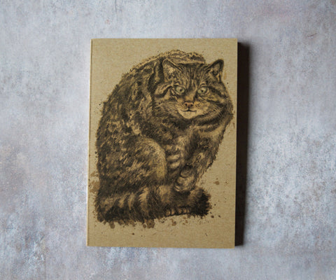 Scottish Wildcat A6 Pocket Notebook