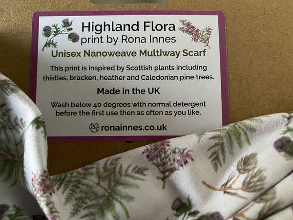 Highland Flora Multiway Snood Scarf - Face Cover or Neck Gaiter