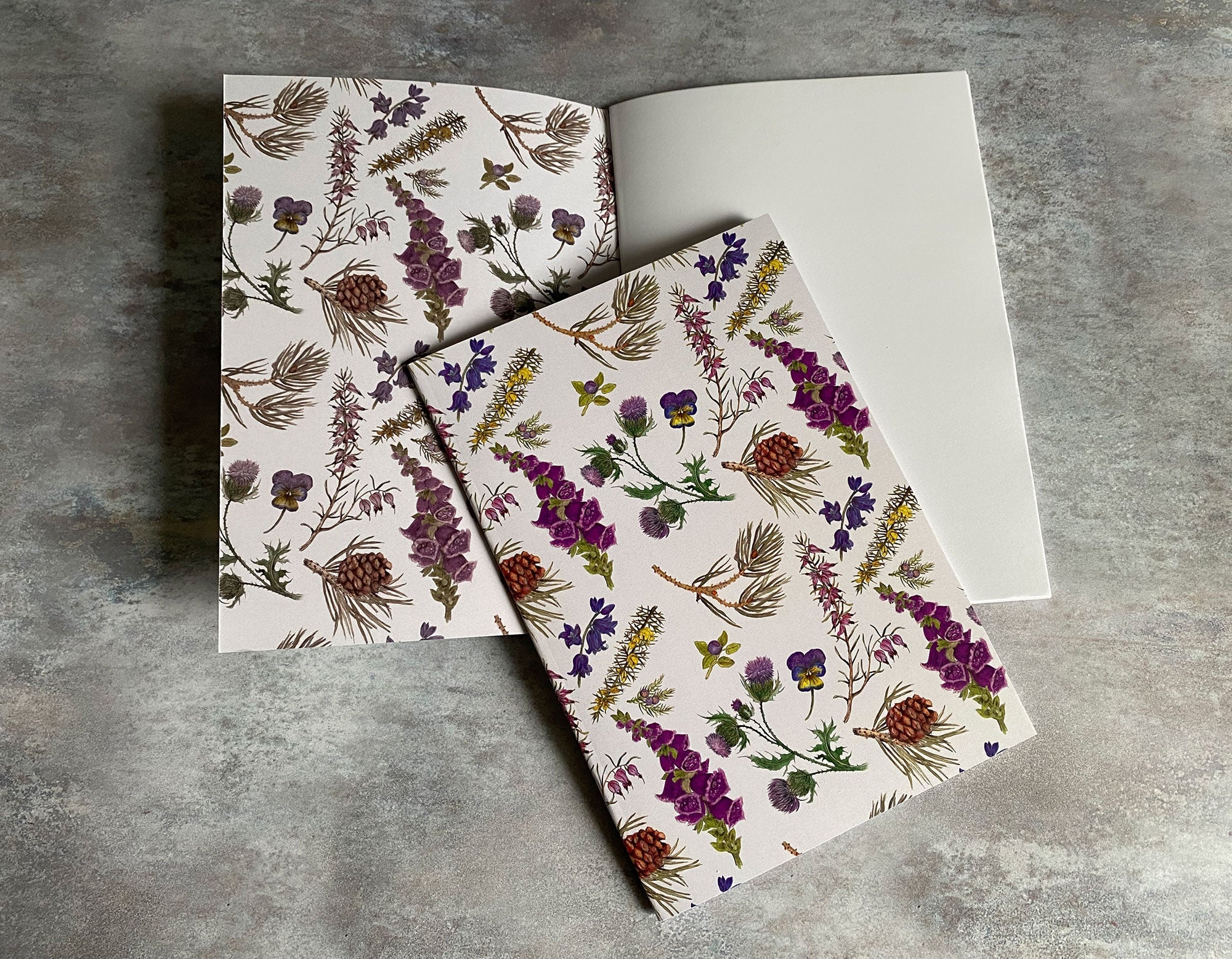 Highland Flora - Scottish wildflower A5 Notebook with plain paper