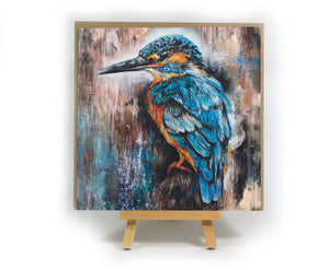 Kingfisher square greeting card