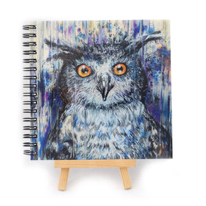 Purple Owl Square Notebook