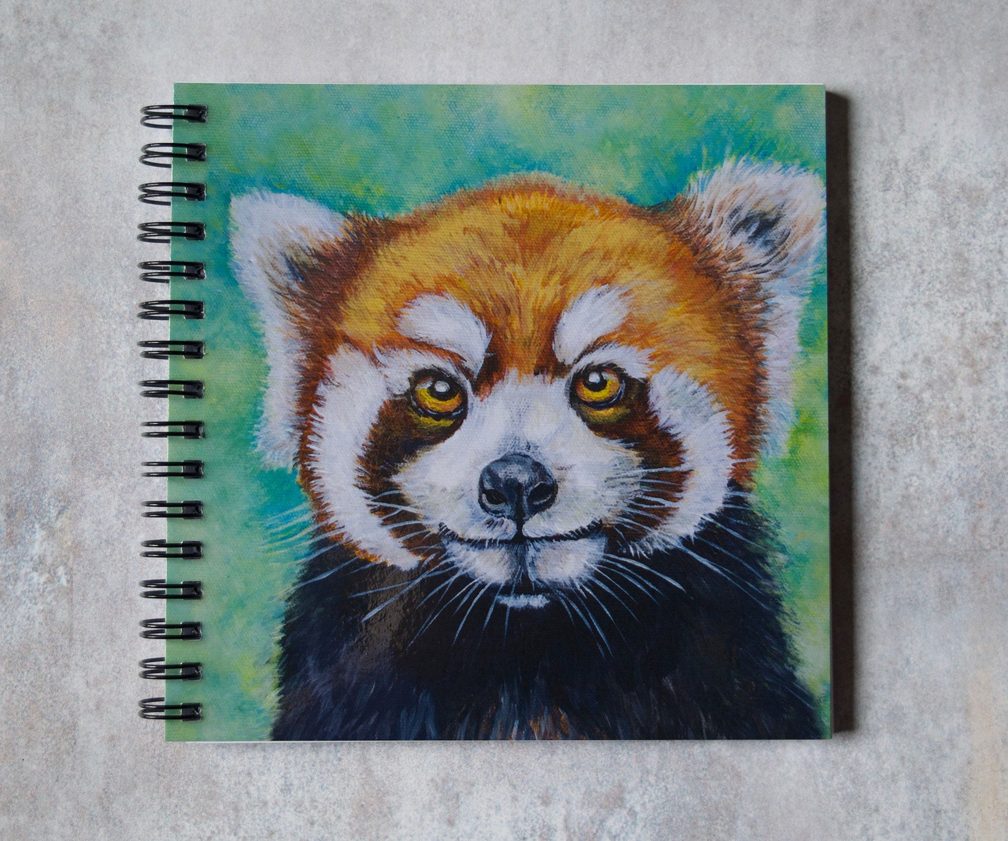 Red Panda Head Square Notebook