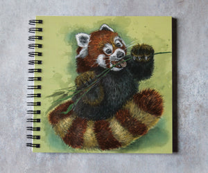 Red Panda Square Notebook
