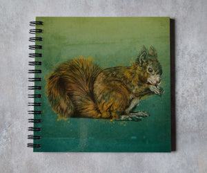 Red Squirrel Square Notebook