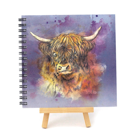 Watercolour Coo Square Notebook