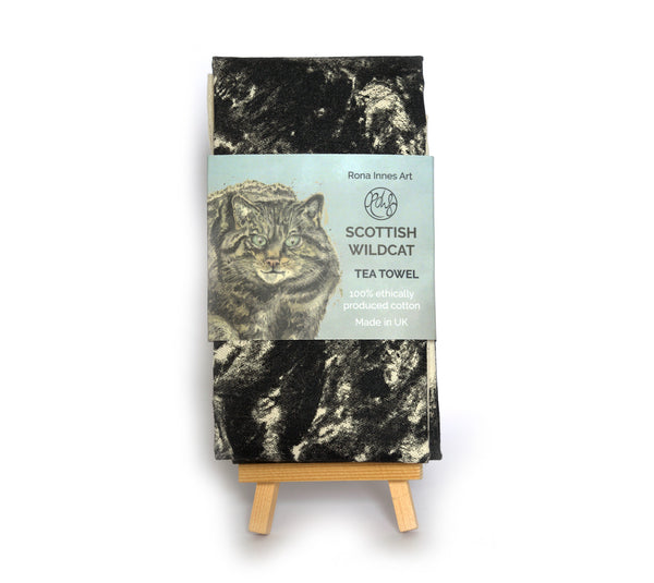 Scottish Wildcat tea towel
