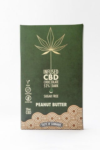 Taste Of Cannabis Peanut Butter Chocolate With - 20mg CBD