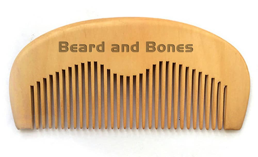 Wooden Comb - beard and bones