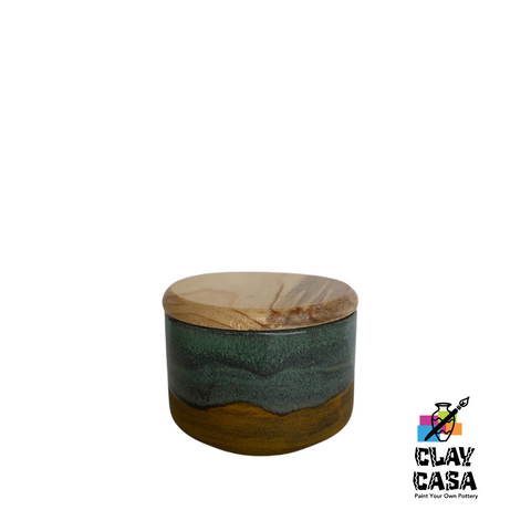Small / Short Canister w/ Wooden Lid