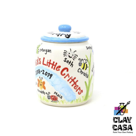 Custom Painted Large Canister