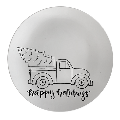 Truck with Tree Coupe Charger Plate