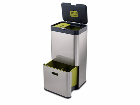 Totem 60L Bin Waste Separation and Recycling Unit - Stainless Steel