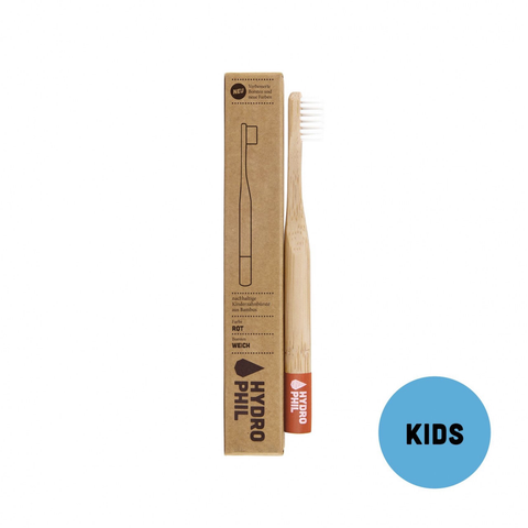 Kids' Bamboo Toothbrush in Red by Hydrophil