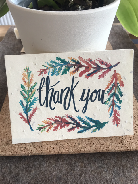 Plantable Wildflower Card - Thank You