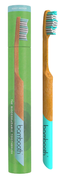 Bamboo Toothbrush - Medium - Aqua Marine