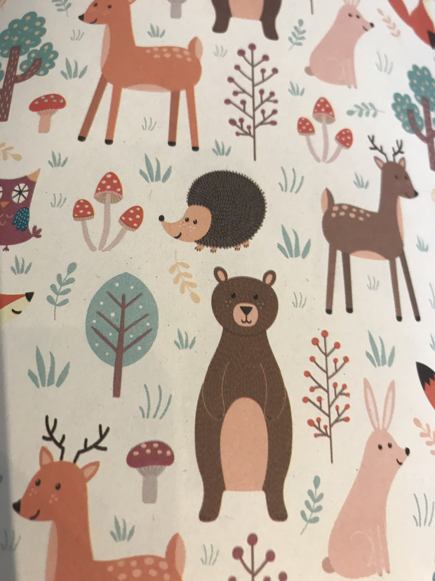 Recycled Gift Wrapping Paper - Forest Animals