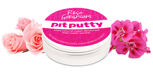 Rose Geranium Mini Deodorant by Pit Putty
