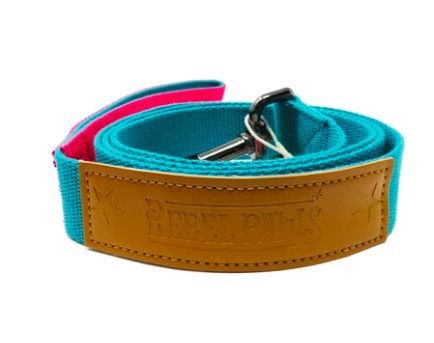 Rebel Paws Hemp Dog Lead- Turquoise - Large