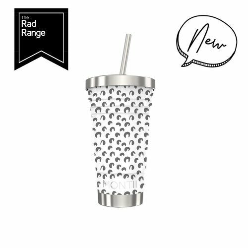 Insulated Smoothie Cups by Montii - White Leopard