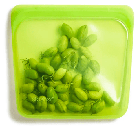 Reusable Silicone Bags by Stasher - Sandwich Bag - Lime