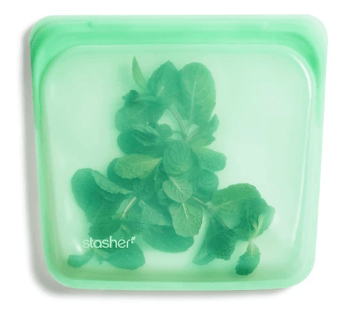 Reusable Silicone Bags by Stasher - Sandwich Bag - Mint