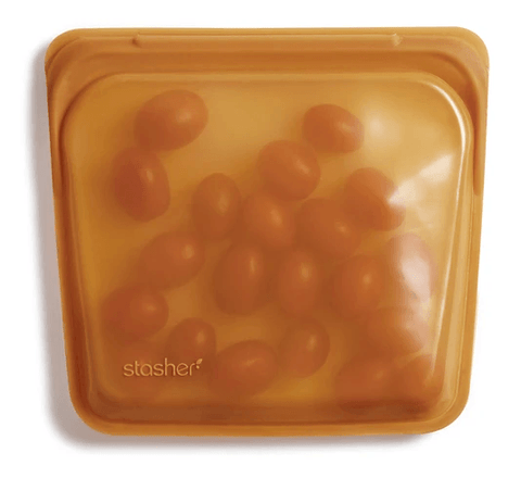 Reusable Silicone Bags by Stasher - Sandwich Bag - Honey
