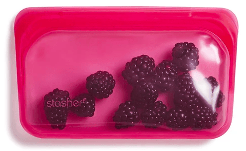 Reusable Silicone Bags by Stasher - Snack Bag - Raspberry