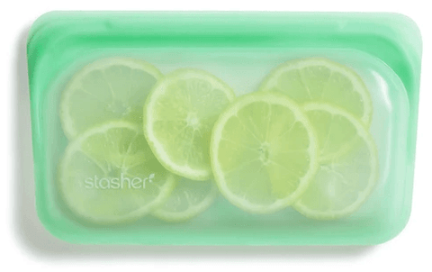 Reusable Silicone Bags by Stasher - Snack Bag - Mint
