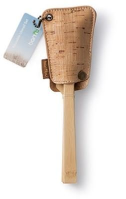 Bamboo Knife, Fork & Spoon Set with Cork Sleeve