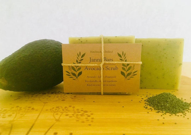 Avocado Body Scrub Bar by Janni Bars